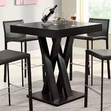 Square Bar Table Crisscross Square Bar Table Coaster Furniture Furniturepick