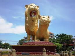 gold lion statue help us make a pair of gold lion s number one on tripadvisor