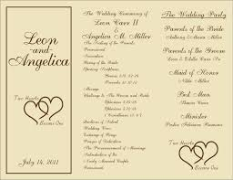 ceremony programs wedding ceremony program template newest snapshoot printable