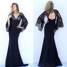 sexi maxi dresses black patchwork lace backless mermaid plunging neckline masquerade