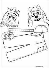 yo gabba gabba coloring pages coloringbook org