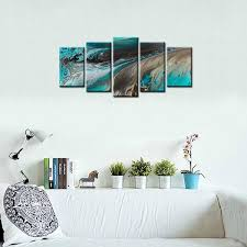 Modern Art Home Decor Framed Canvas Print Art Abstract Oil Painting Wall Canvas Art Home