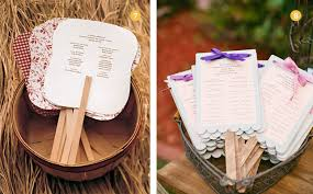 Cute Wedding Programs Finishing Touches Wedding Fans Exquisite Weddings