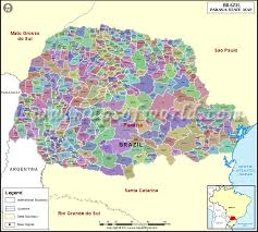 parana river map parana map state of parana