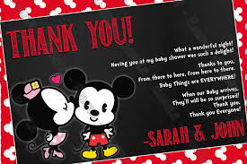 minnie mouse thank you cards novel concept designs mickey mouse minnie mouse gender