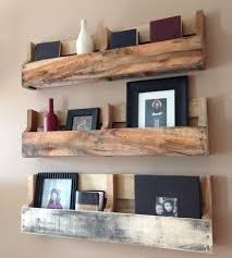 Reclaimed Wood Home Decor Salvaged Wood Pallet Shelves Set Of 3 Home Decor U0026 Lighting