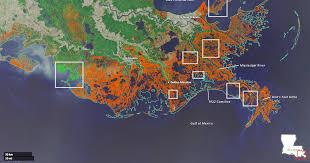 louisiana elevation map losing ground
