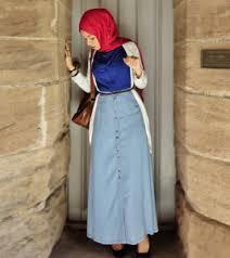 Baju Atasan Rok Levis tips padupadan rok untuk hijabers hijabina jual