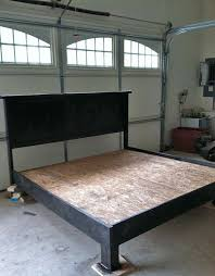 How To Make A Platform Bed With Headboard by Best 25 Diy Bed Frame Ideas On Pinterest Pallet Platform Bed