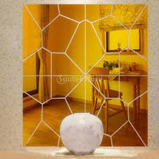 golden china pattern golden mirror decal promotion shop for promotional golden mirror