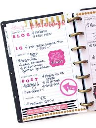 using a mini happy planner as a social media planner u2014 me u0026 my