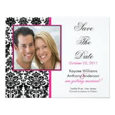 save the date announcements damask save the date cards