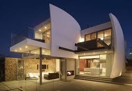 modern architecture luxury home with futuristic architecture