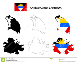 Antigua Map Antigua And Barbuda Map Vector Antigua And Barbuda Flag Vector