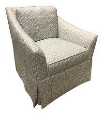Restoration Hardware Swivel Chair Pearson Veronica Skirted Swivel Chair Chairish