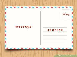 photo postcard how to write a postcard with sle postcards wikihow