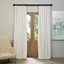 White Darkening Curtains Exclusive Fabrics Signature White Velvet Blackout Curtain