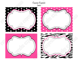 diy zebra minnie mouse birthday party printable labels food