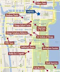 Downtown Chicago Map by Chicago Kristelle Alexie Landmark Thinglink
