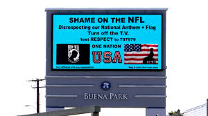 Texas Vs Chile Flag Second Billboard Urging People To Protest The Nfl Goes Live In