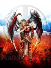 angel and demon tattoo design tattoos book 65 000 tattoos designs