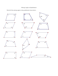 polygons and quadrilaterals worksheets worksheets