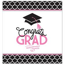 congrats grad pink table cover