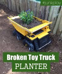 broken truck planter trucks toys and planters