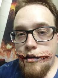 latex for halloween makeup cutting my mouth open is hard work u2026 u2013 mhatomicjukebox