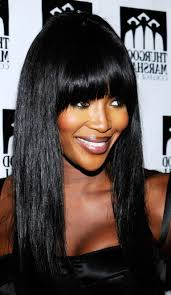 straight weave hairstyles with bangs for black women