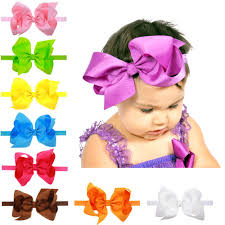 ribbon hair bands baby stretch bow headbands infant big bow hair band