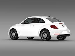 volkswagen beetle white 2016 3d model volkswagen beetle classic 2015 cgtrader