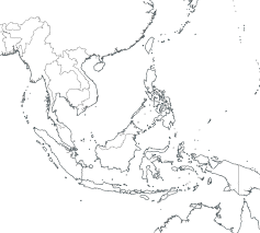 Map Of The Up Outline Map Of Southeast Asia With Blank With Blank Southeast