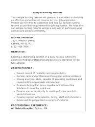Sample Nursing Resume Objective career objective nursing resume rn resume cover letter new