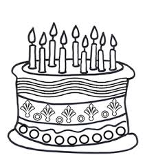 Birthday Cake Colouring Page Online Birthday Cake Kids Activity Birthday Cake Coloring Pages