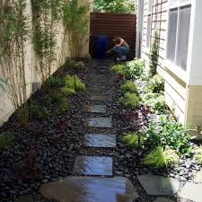 collection narrow backyard landscaping ideas photos free home