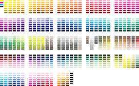 standard pantone color chart free download