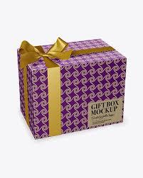 metallic gift box metallic gift box mockup half side view box mockups