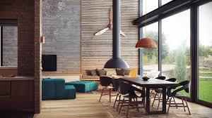 interior urban kitchen decor ideas with granite top bar table