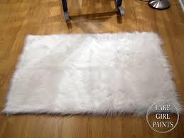 White Sheepskin Rugs White Rug Walmart Roselawnlutheran