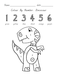cool color number dinosaur 95 1437