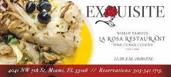 cuisine a la la rosa restaurant miami deluxe cuban restaurant