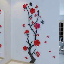 amazon com alicemall stunning plum flower 3d wall stickers