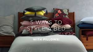 how to layer a bed how to layer your bed style your pillows youtube