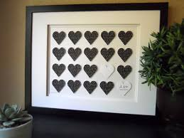 wedding gift ideas for friends wedding lyric 3d paper heart framed gift ways to say