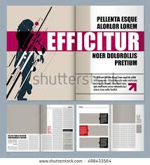 modern magazine layout template people talking stock vector