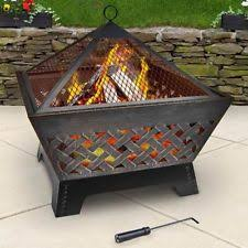 Square Firepit Landmann 25282 Barrone Pit With Cover 26 Inch Antique