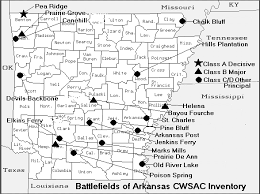 map of arkansas arkansas civil war map of battles american