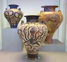 Minoan Octopus Vase Archeological Museum In Athens Sar At Large