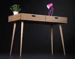 Small Wooden Writing Desk Home Desk Bureau Dressing Table Wooden Desk Oak Wood Mid